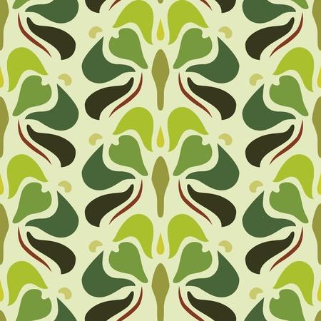 古美術品: 編集可能なファイルでアールデコのシームレスなパターン