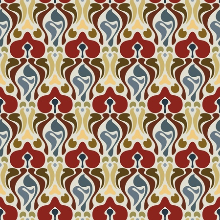 Art deco seamless pattern in editable file Vector