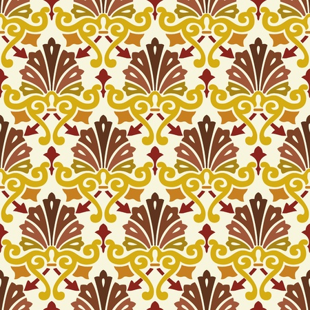 drapery: classic vintage seamless pattern in editable file Illustration
