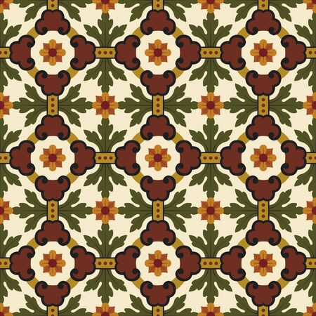 tapestry: classic vintage seamless pattern in editable file Illustration