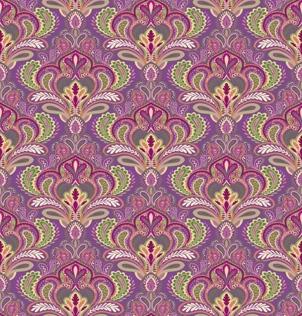 Paisley seamless pattern in editable file Vector