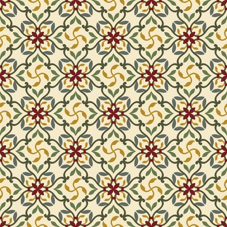 continuous: classic vintage seamless pattern in editable vector file Illustration