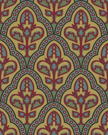 classic vintage seamless pattern in editable vector file Vector