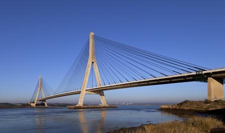 bridge construction: Bridge over the Guadiana River in Ayamonte