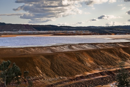 Dam copper mine waste in Riotinto, Spain photo