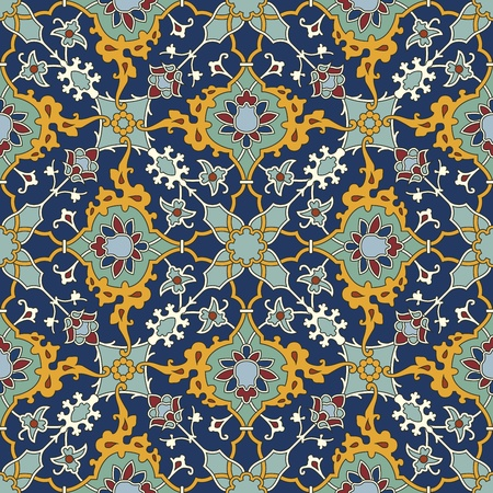 tapestry: Arabesque seamless pattern in editable vector file