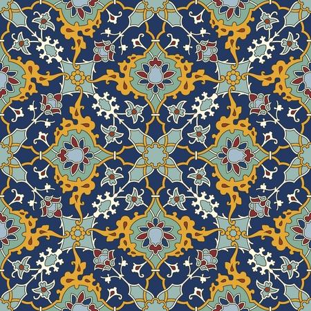 persian art: Arabesque seamless pattern in editable vector file