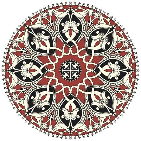 Arabisch cirkelvormig patroon op een witte achtergrond in bewerkbare vector-bestand Stock Illustratie