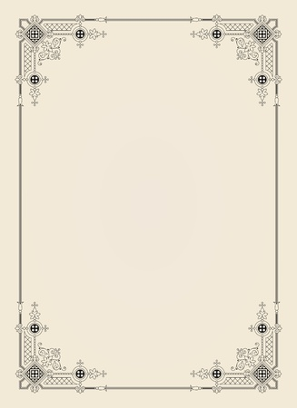 bordures fleurs: vintage frame ornement dans le fichier vectoriel �ditable