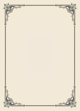 border line: ornamental  frame vintage in editable vector file