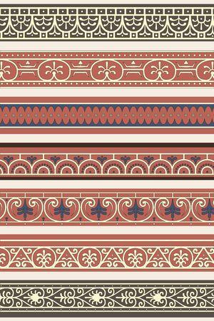 Set of seven decorative borders ornamental in editable vector file Stock Vector - 13385282