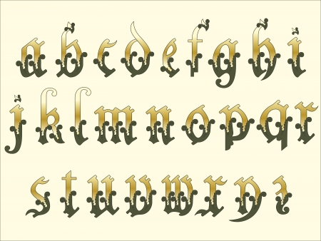 Medieval Alphabet Stock Vector - 13626378