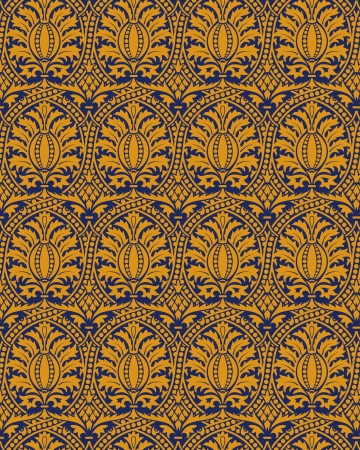 tapestry: Classic seamless patter yellow