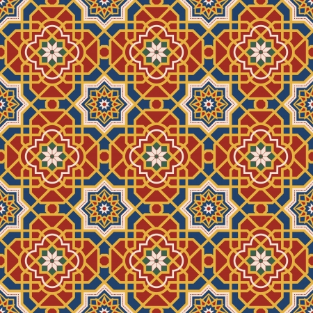 in islamic art: Arabesque seamless pattern