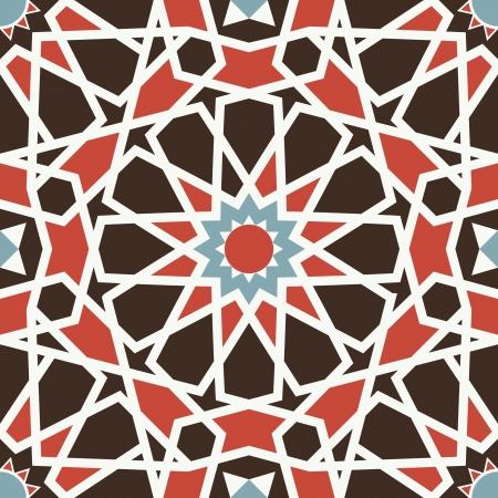patron islamico: Arabesco sin fisuras en editable
