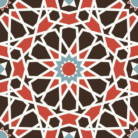 Arabesque seamless pattern in editable Vector
