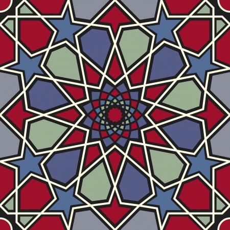 islamic pattern: Arabesque seamless pattern in editable file