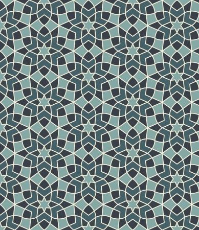 patron islamico: Arabesco sin fisuras en el archivo vectorial editable