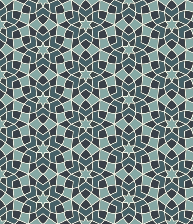 in islamic art: Arabesque seamless pattern in editable vector file