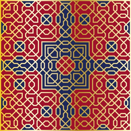 islamic art: Arabesque seamless pattern in editable vector file
