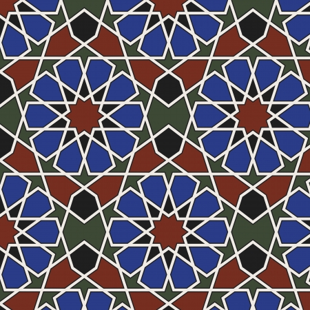 islamic pattern: Arabesque seamless pattern in editable