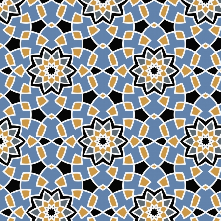 muslim pattern: Arabesque seamless pattern in editable