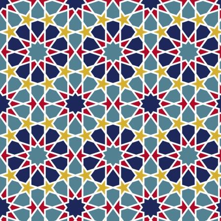 arabisch patroon: Arabesque naadloze patroon in bewerkbare