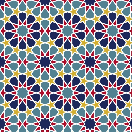 persian art: Arabesque seamless pattern in editable
