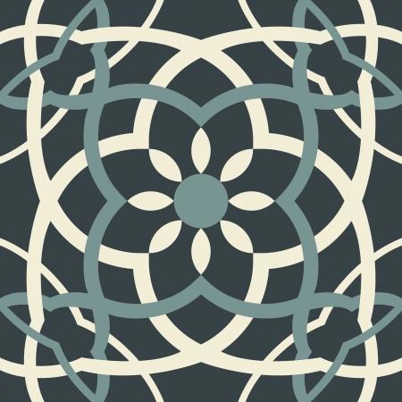 ペルシア: 編集可能なファイルでシームレスな唐草模様  イラスト・ベクター素材