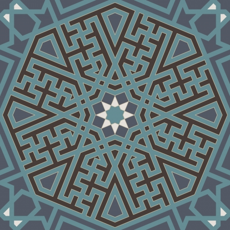 islamic art: Arabesque seamless pattern in editable file