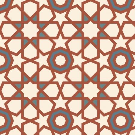 ペルシア: 編集可能なシームレスな唐草模様