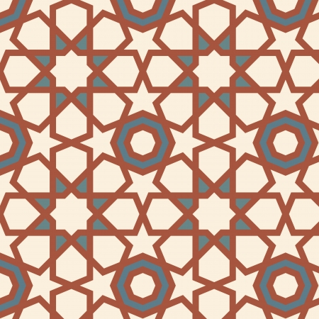 muslim pattern: Arabesque seamless pattern in editable Illustration