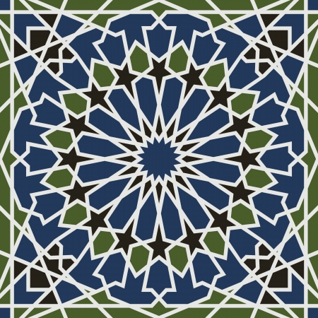 in islamic art: Arabesque seamless pattern in editable Illustration