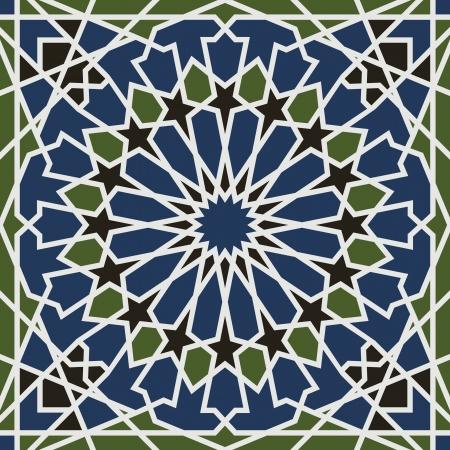 Arabesque seamless pattern in editable