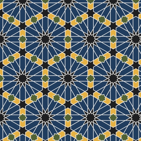 편집 가능한 벡터 파일 아랍어 원활한 패턴 일러스트
