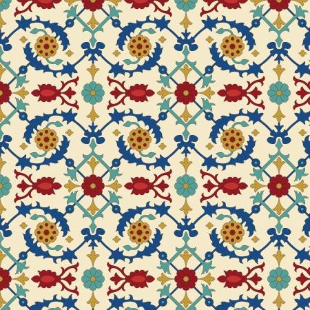 mosaic art: Arabic seamless pattern