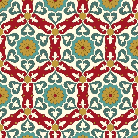 mosaic pattern: Arabic seamless pattern