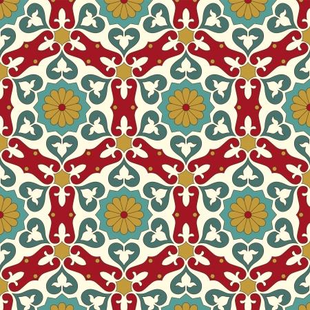 mosaic tile: Arabic seamless pattern
