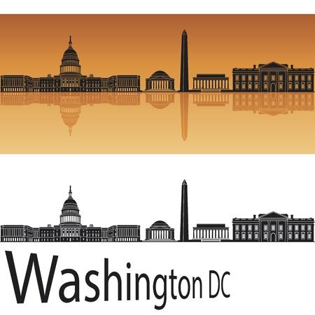 chapiteaux: Washington DC horizon en fond orange