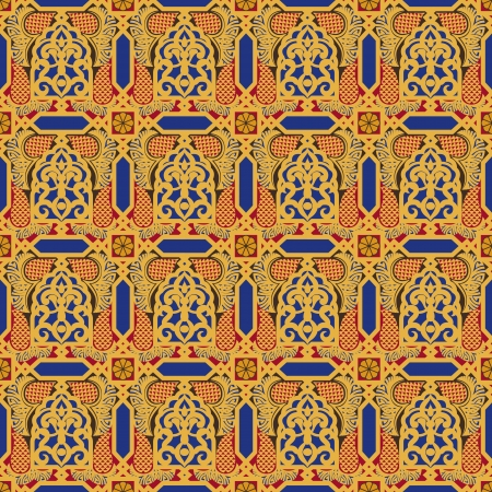 Arabic seamless pattern in editable vector file Vector