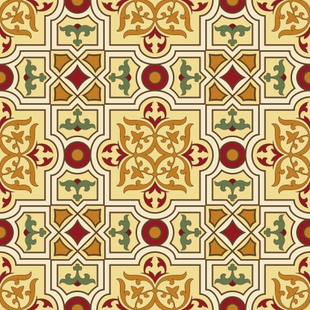 classic vintage seamless pattern in editable Vector