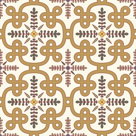 floral pattern motif: classic seamless pattern in editable Illustration