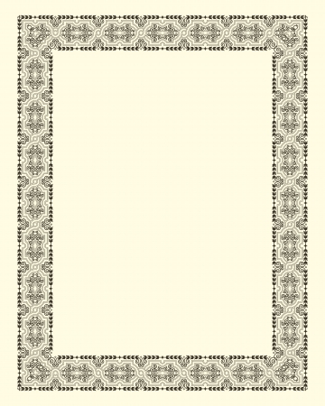 ornamental  frame vintage in editable file