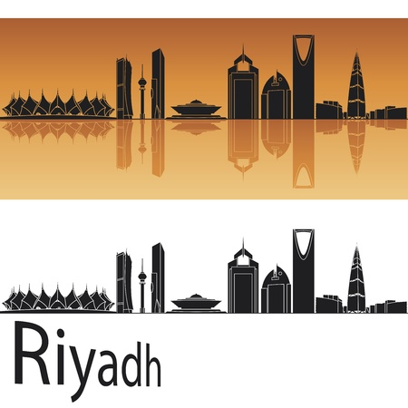 Riyadh skyline in orange background Stock Vector - 15427538