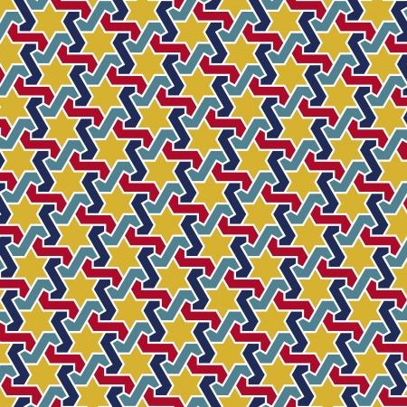 persian art: Arabesque seamless pattern in editable file