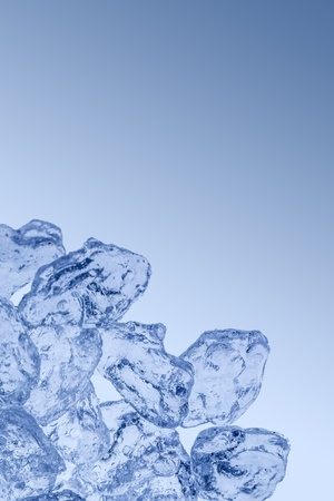 Abstract Ice background with copyspace in blue photo