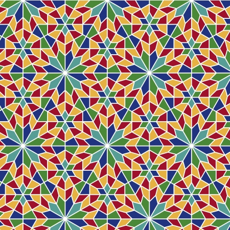 mosaic art: Arabesque seamless pattern in editable file
