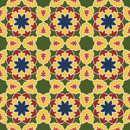 Arabesque seamless pattern in editable file Vector