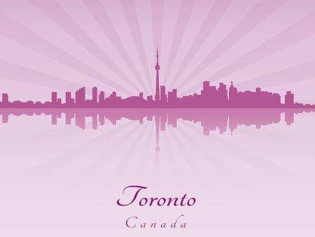 toronto: Toronto skyline in purple radiant orchid in editable vector file