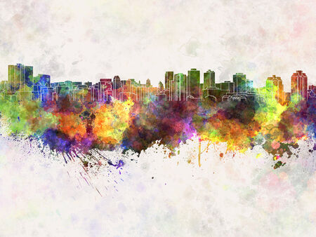 scotia: Halifax skyline in watercolor